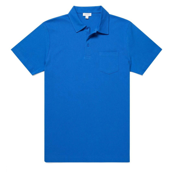 Sunspel Riviera Polo Shirt Booth Blue