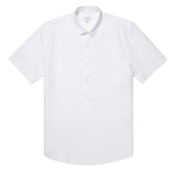 Sunspel SS Linen Shirt White