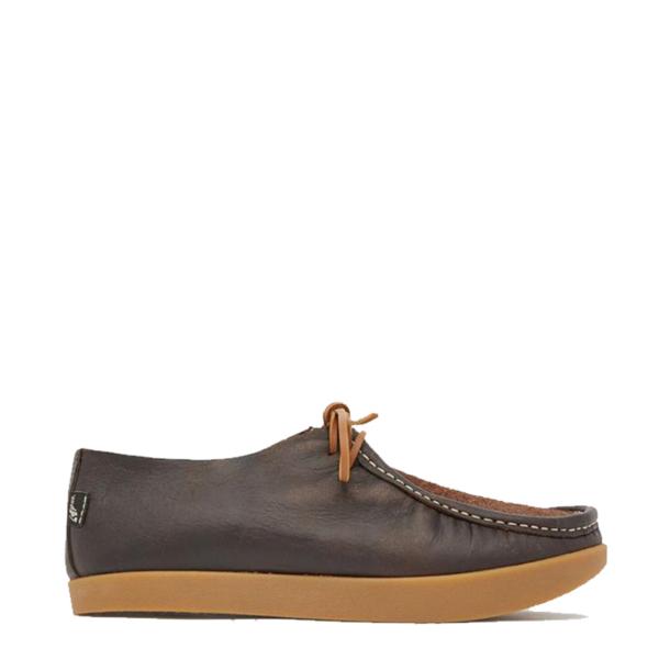 Yogi Willard Reverse Vamp Shoe Dark Brown