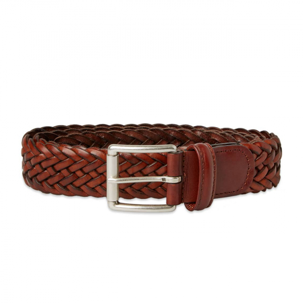 Andersons A1097 Braided Leather Belt Light Brown
