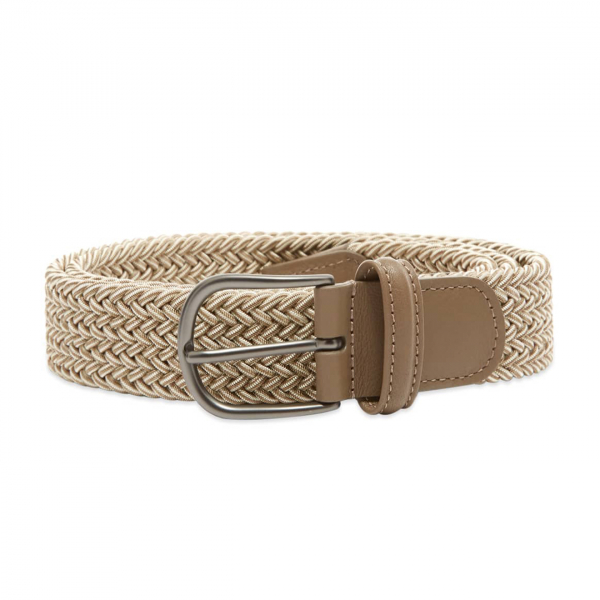 Andersons B0667 Woven Textile Belt Ecru & White