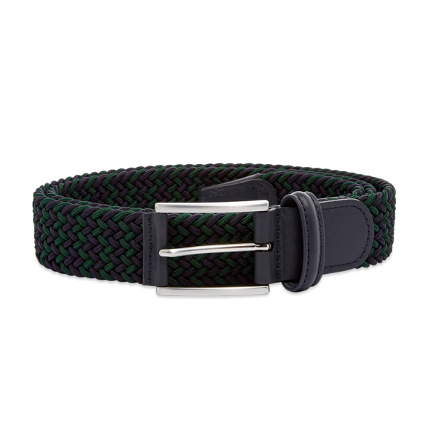 Andersons B0667 Woven Textile Belt Navy & Green