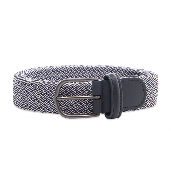 Andersons B0667 Woven Textile Belt Navy & White