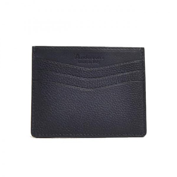 Andersons Leather Card Holder Navy