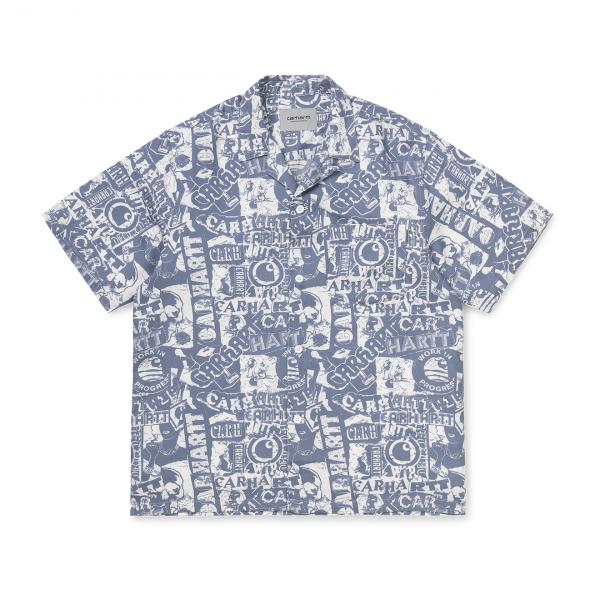 Carhartt Collage Shirt Collage Print Mossa / White