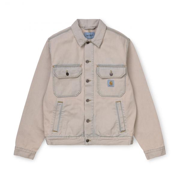 Carhartt Stetson Jacket Blue Sand Bleached