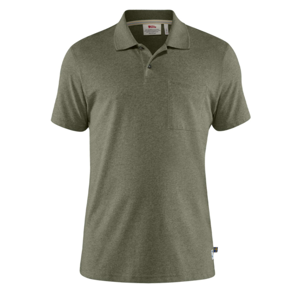 Fjallraven Greenland Re-Cotton Polo Shirt Green
