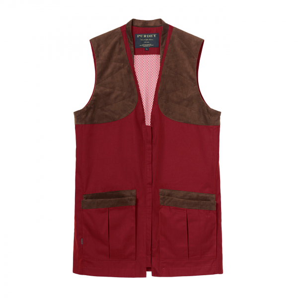 James Purdey Summer Sporting Vest Audley Red
