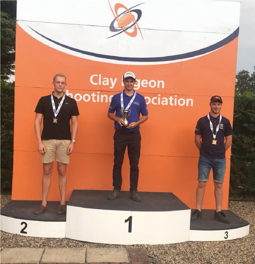 James Bradley-Day On Podium: Winner of Clay Pigeon Shooting Association Competition.