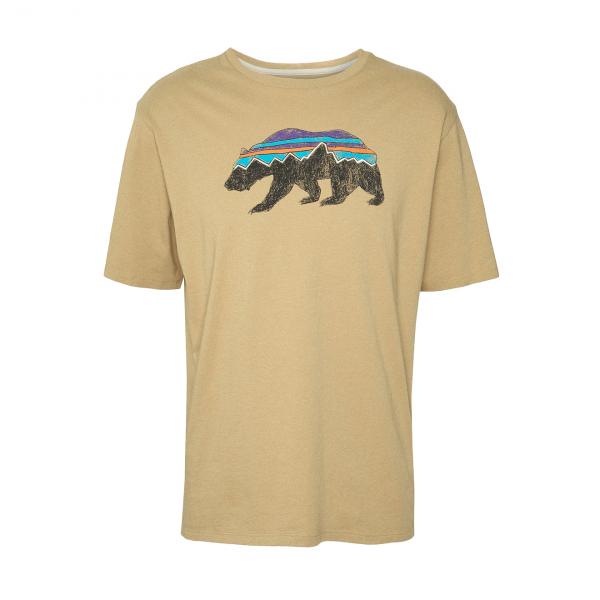 Patagonia Fitz Roy Bear Organic T-Shirt Classic Tan