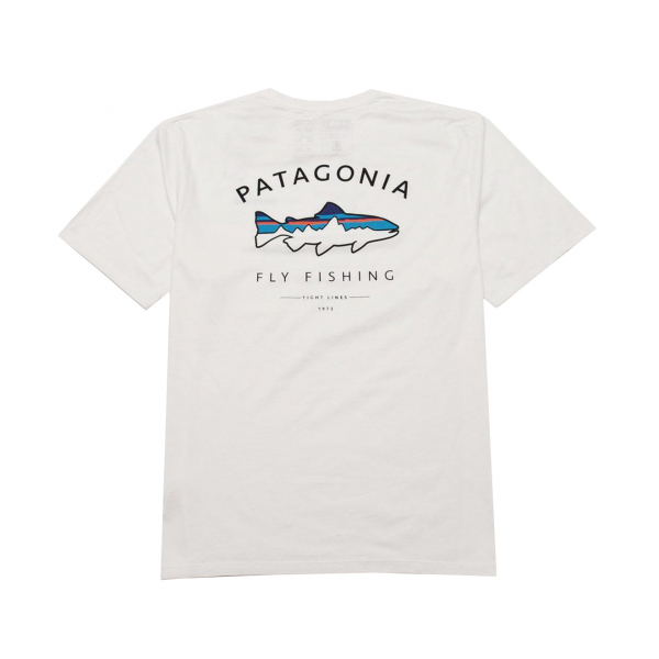 Patagonia Framed Fitz Roy Trout Organic T-Shirt White