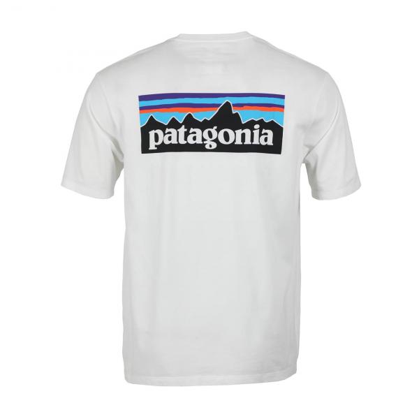 Patagonia P-6 Logo Organic T-Shirt White