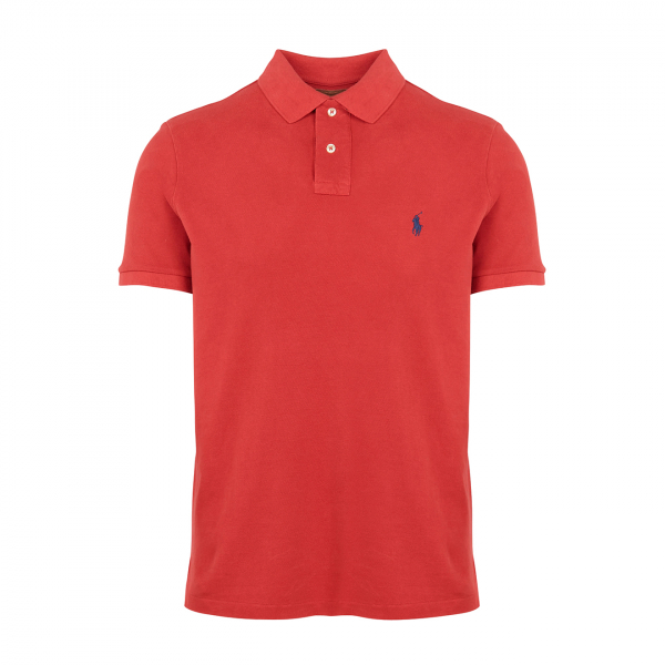 Polo Ralph Lauren Custom Slim Fit Polo Shirt Red