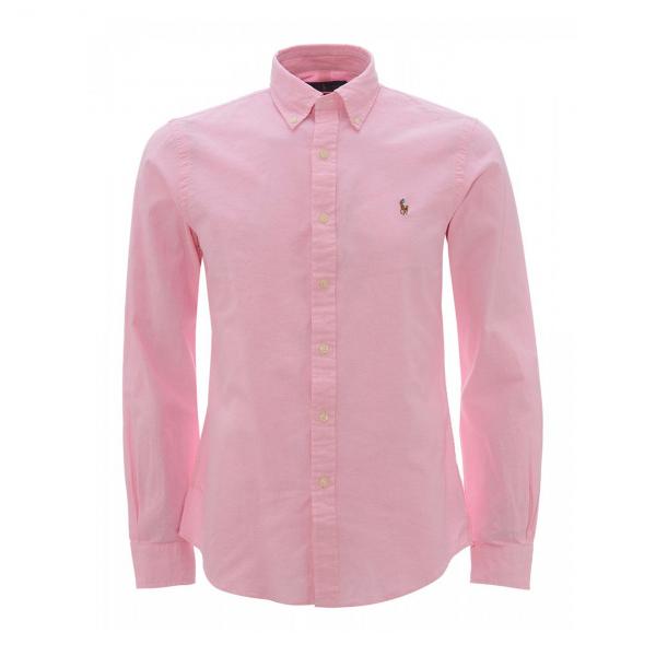 Polo Ralph Lauren Slim Fit Chambray Shirt Pink