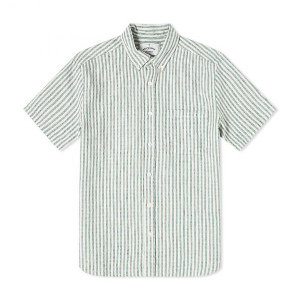 Portuguese Flannel Beach Cabin ESP LS Shirt Vintage Green