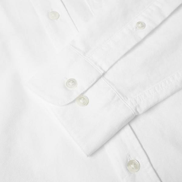 Portuguese Flannel Belavista LS Oxford Shirt Off White