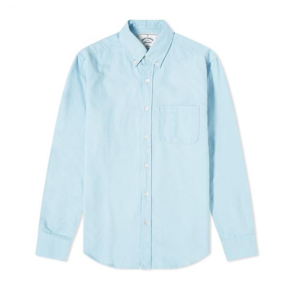 Portuguese Flannel Belavista LS Oxford Shirt Sky