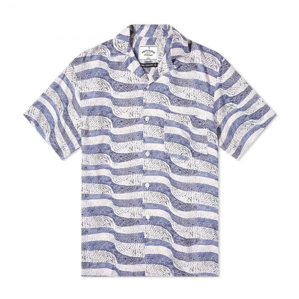 Portuguese Flannel Calcada SS Shirt Portuguesa Blue / Grey