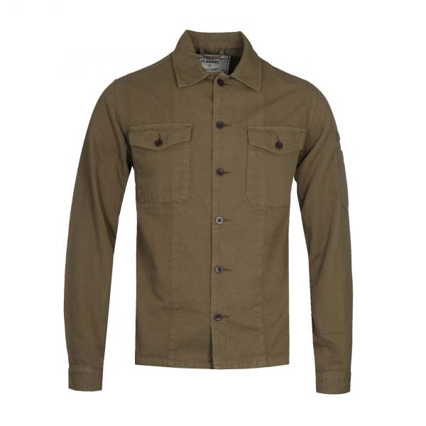 Portuguese Flannel Champ LS Overshirt Olive