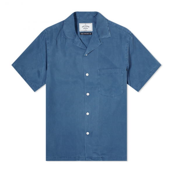 Portuguese Flannel Dogtown SS Shirt Blue