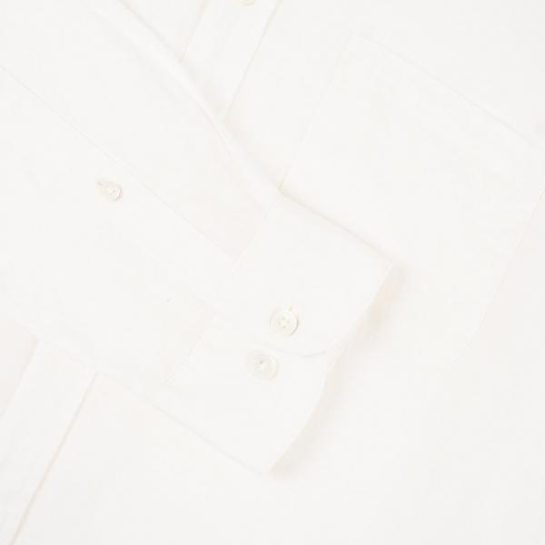 Portuguese Flannel Linen LS Shirt Off White