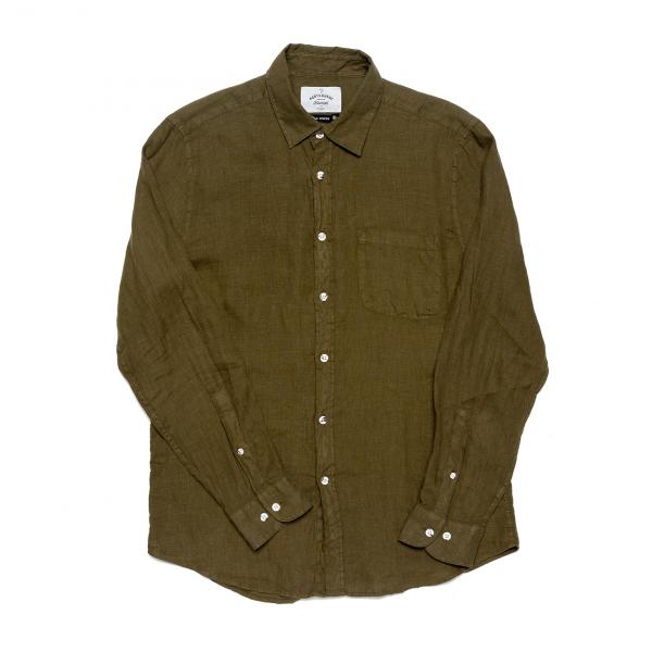 Portuguese Flannel Linen LS Shirt Olive
