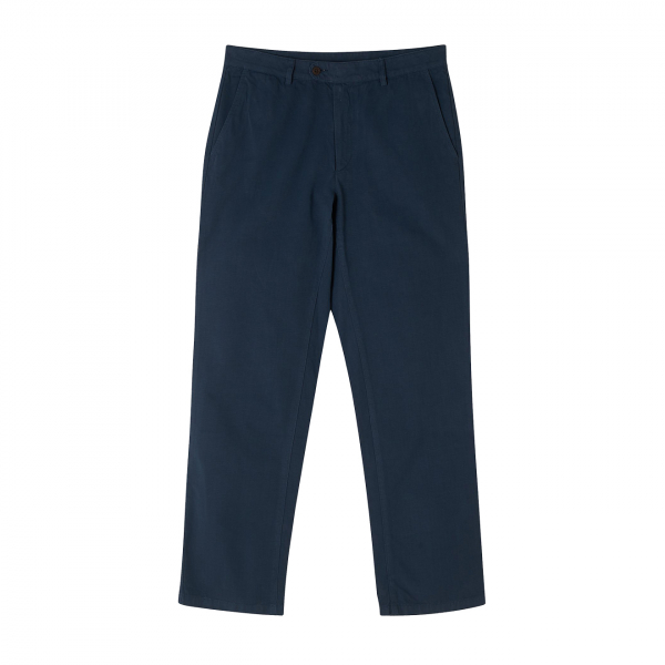 Portuguese Flannel Ripstop Trousers Navy