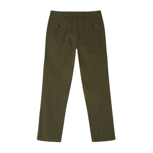 Portuguese Flannel Ripstop Trousers Olive