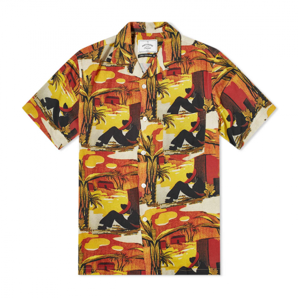 Portuguese Flannel Santa Fe SS Shirt Mustard / Red