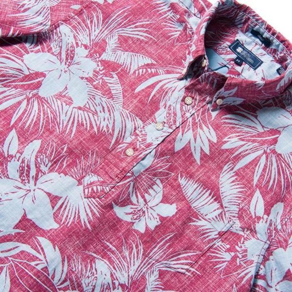 Reyn Spooner Tigerlily Burst Pullover Shirt Beaujolais