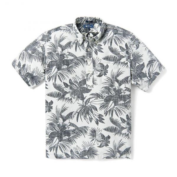 Reyn Spooner Tigerlily Burst Pullover Shirt Marshmallow