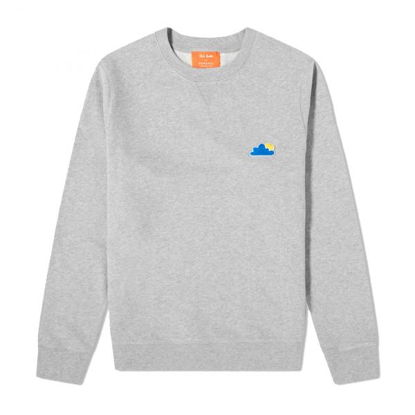 Sunspel John Booth Sweatshirt Grey Melange