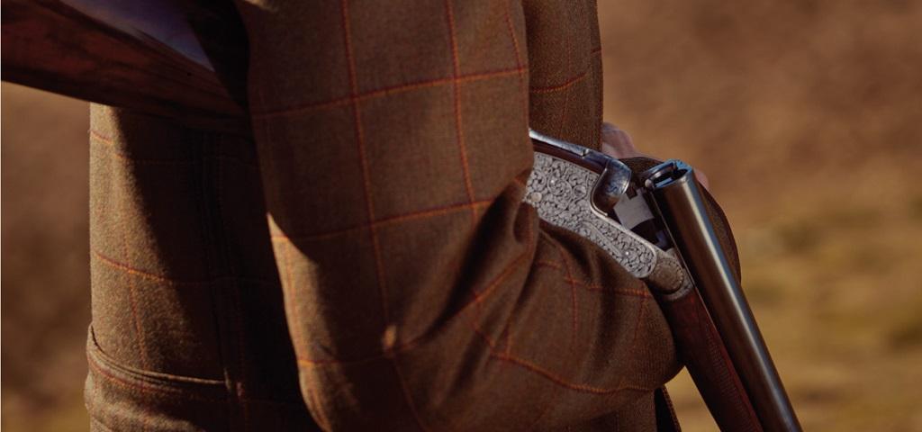 Purdy Shotgun and Tweed Jacket