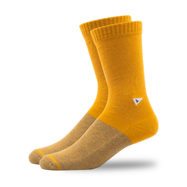 Arvin Goods Casual Socks Yellow