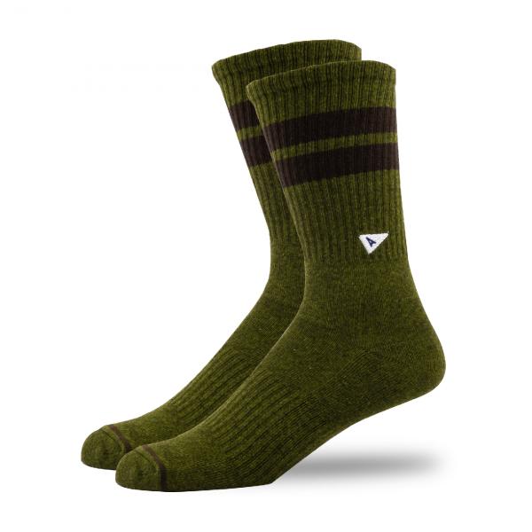 Arvin Goods Crew Socks Olive Green