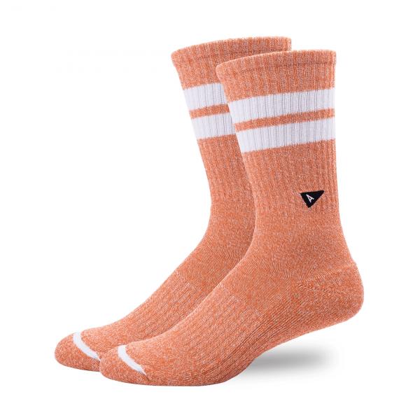 Arvin Goods Crew Socks Tangerine