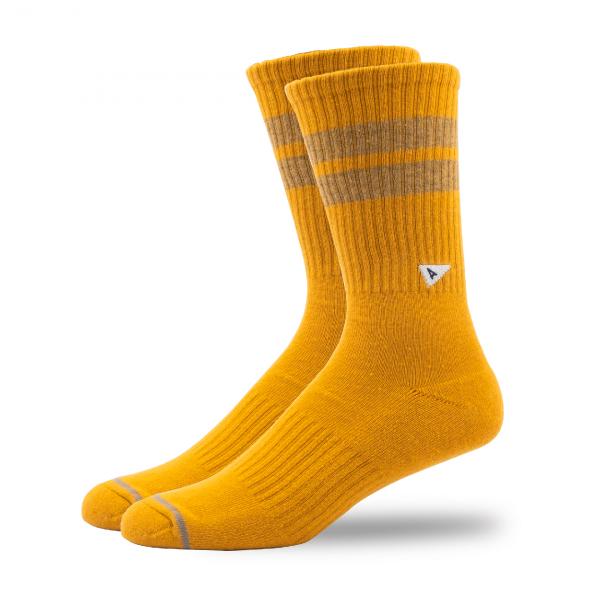 Arvin Goods Crew Socks Yellow