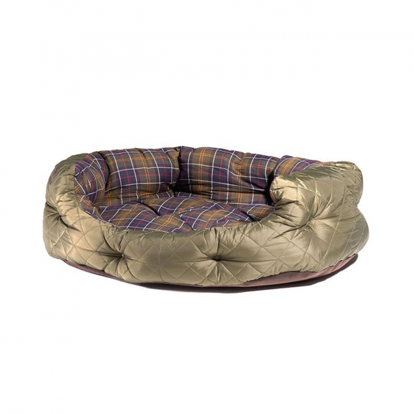 "Barbour Quilted Dog Bed 35"" Olive"