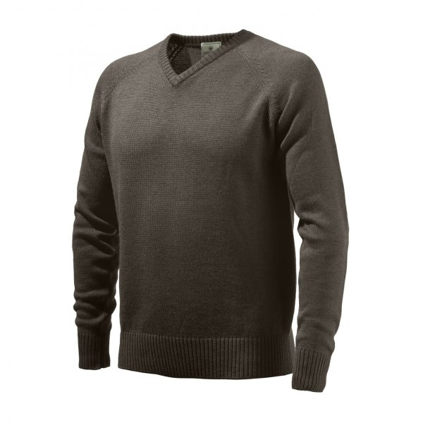 Beretta Classic V-Neck Sweater Brown