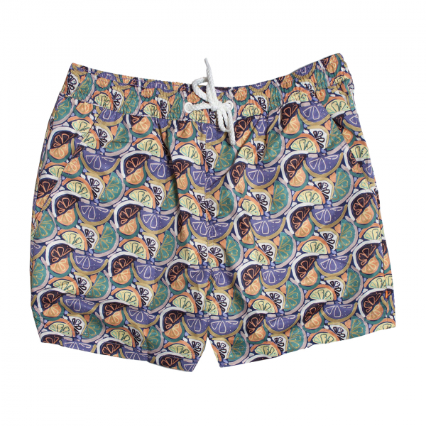 Far Afield Printed Swim Shorts Fruity