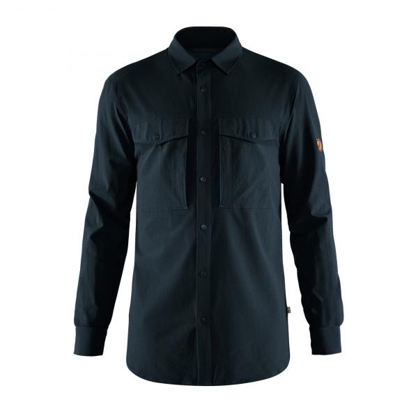 Fjallaven Abisko Trekking Shirt Dark Navy