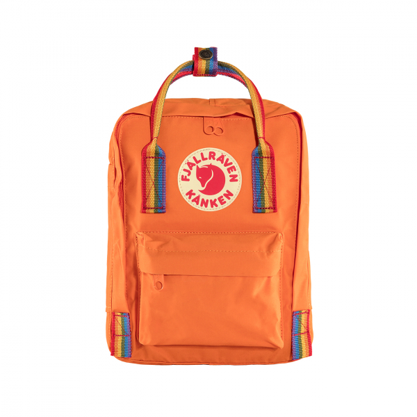 Fjallraven Kanken Mini Backpack Burnt Orange Rainbow Pattern