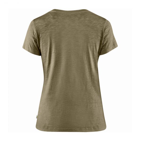 Fjallraven Womens Forever Nature Badge T-Shirt Light Olive