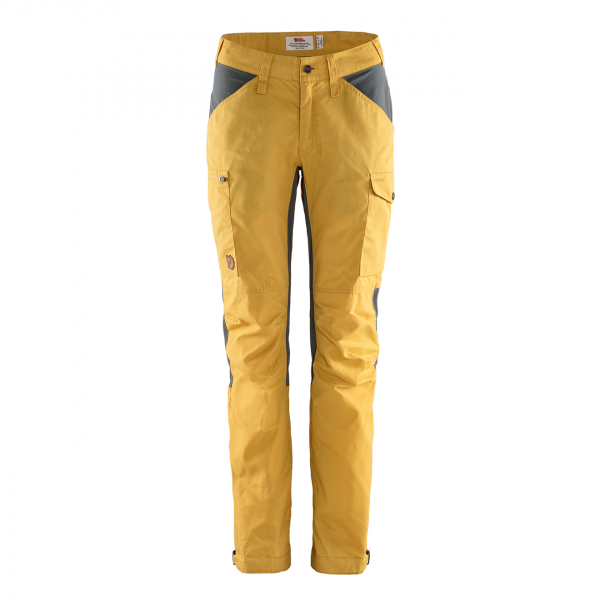 Fjallraven Womens Kaipak Trousers Curved Ochre / Super Grey