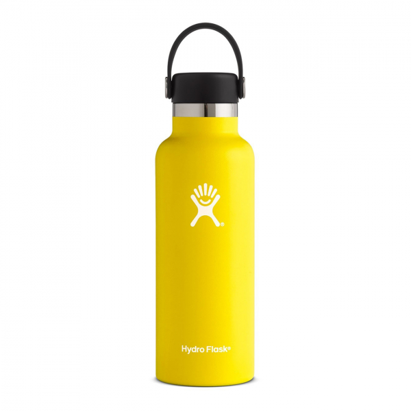 Hydro Flask 18oz Standard Mouth Bottle Lemon