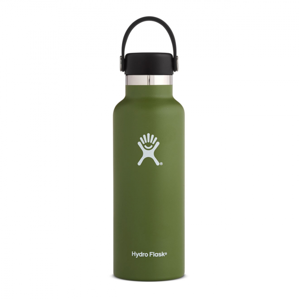 Hydro Flask 18oz Standard Mouth Bottle Olive