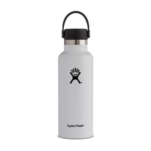 Hydro Flask 18oz Standard Mouth Bottle White