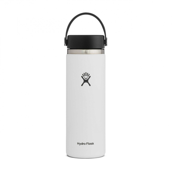 Hydro Flask 20oz Wide Mouth Bottle White