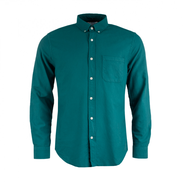 Portuguese Flannel Belavista LS Oxford Shirt Billard Green