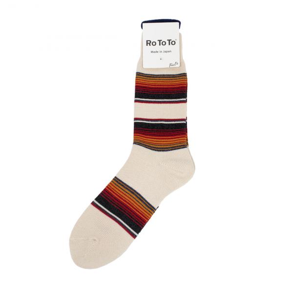 RoToTo Baja Cali Socks Ivory